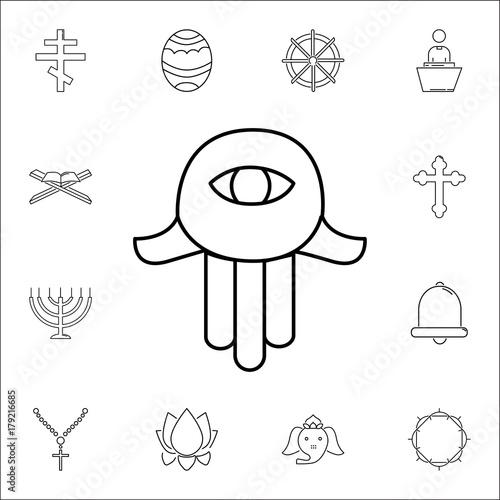 Hamsa Hand Icon Set Of Religion Icons Web Premium Quality Graphic Design