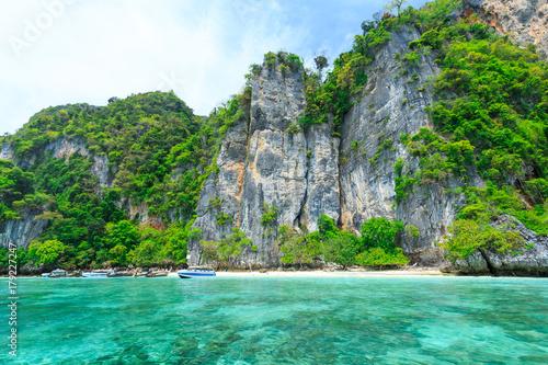 Fototapety, obrazy: Monkey Beach, Phi Phi Islands, Thailand