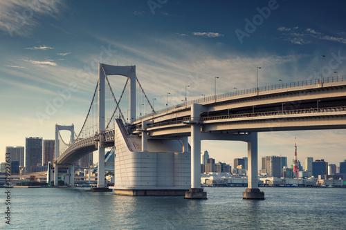 Foto op Canvas Tokyo Tokyo. Cityscape image of Tokyo, Japan with Rainbow Bridge.
