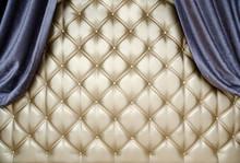 Golden Upholstery Velvet Curta...