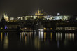 Night Prague view