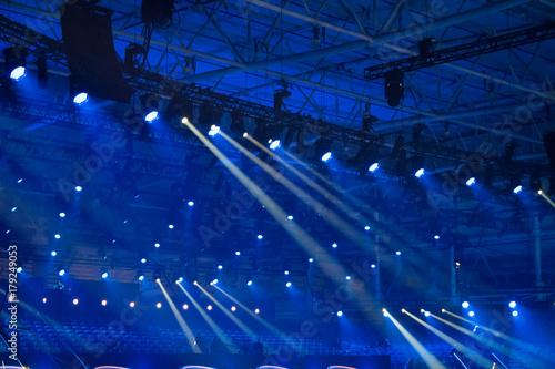 Plakat Niebieskie światła disco