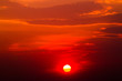 Leinwandbild Motiv colorful dramatic sky with cloud at sunset.