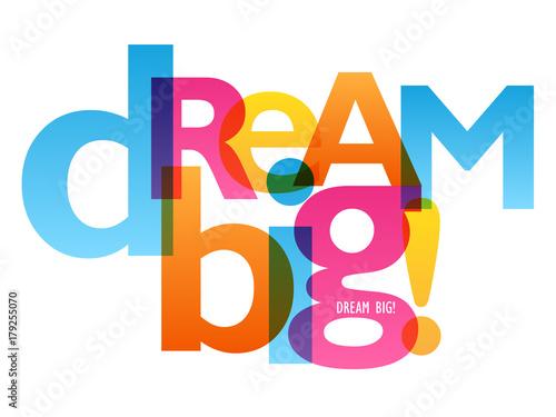 plakat-dream-big-typografia