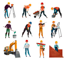Construction Workers Set