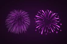 Beautiful Purple Fireworks Set...