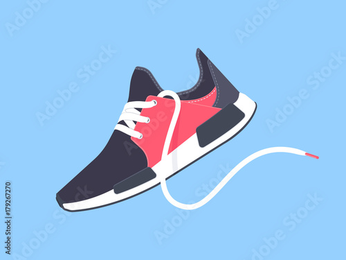 Fotografia  Sneakers. Sport shoes. Shoes for running. Vector illustration