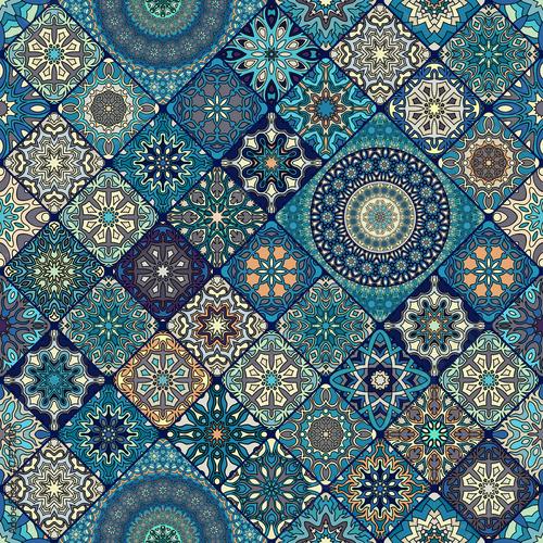 Vintage elementy dekoracyjne. Ręcznie rysowane tła. Islam, arabski, indyjski, motywy otomańskie. Idealny do druku na tkaninie lub papierze.