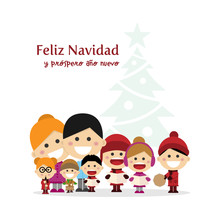 Cute Family Singing Carols At ...