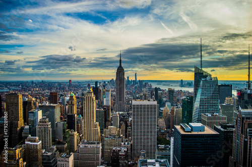 New York, Top of the rock Canvas Print