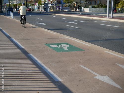 piste cyclable Fototapet