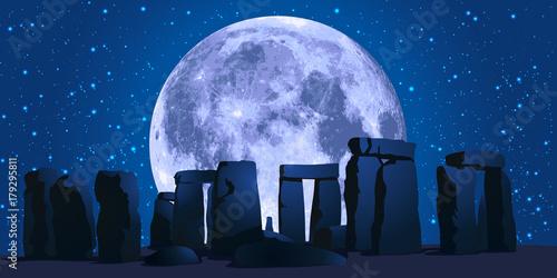 Obraz na plátně Stonehenge - Angleterre - monument - Grande-Bretagne - Royaume-uni - tourisme
