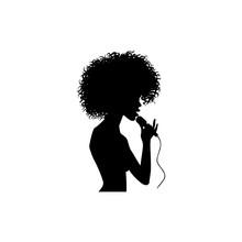 Vector Woman Afro American Por...