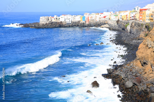 Scenic village on the coast of Tenerife Island, Canary Islands, Spain