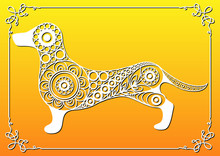 Decorative Illustration With Abstract Dog 3