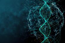 Blue DNA Texture