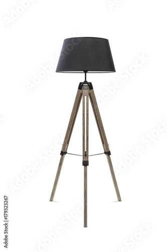 Fotomural Floor lamp for three wooden legs