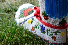 A Aboriginal Moccasin With Bea...