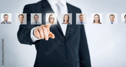 Obraz human resources, career and recruitment concept - fototapety do salonu