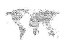 World Map. Vector Pattern Of C...