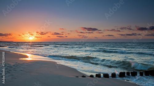 Sunset on the Baltic Sea, Poland