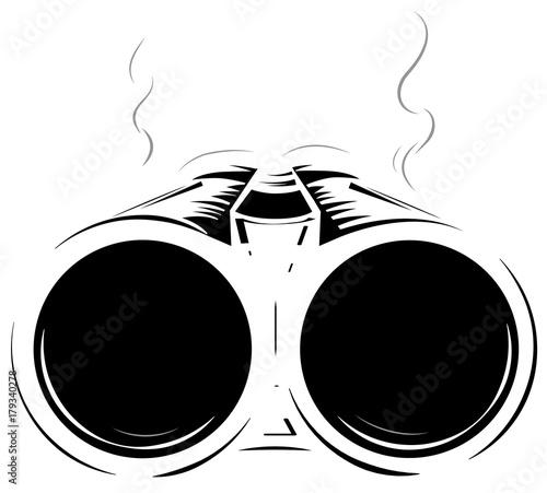 Fotografia, Obraz Vector illustration black and white shotgun isolated background