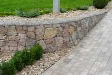 Natural Stone With A Metal Mes...