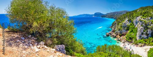 Fényképezés  Cala Fuili beach located just up the coast from Cala Gonone, Sardinia, Italy