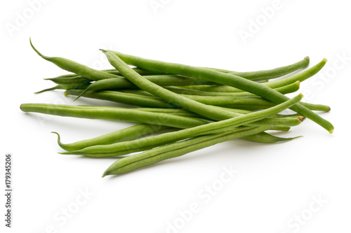 Fotografía  Green beans isolated on a white background.