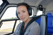 female helicopter pilot