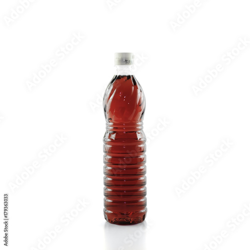 fish sauce bottle isolated on white background with Clipping Path