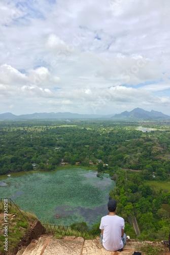 Keuken foto achterwand Khaki landscape