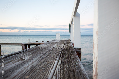 Fotografie, Obraz Wooden Jetty at the beach