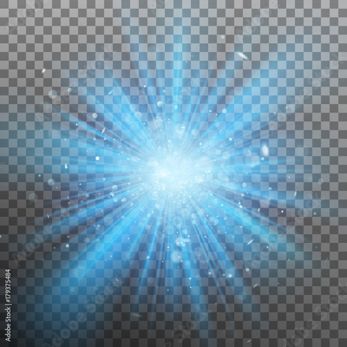 Cuadros en Lienzo  Blue burst color forces light. EPS 10 vector