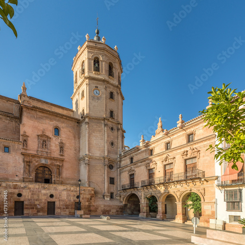 View at the Bell tower of Cathedral San Patrick in Lorca, Spain