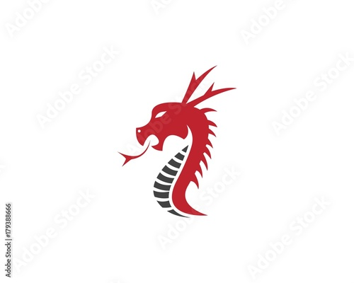 red dragon head logo design template buy this stock vector and