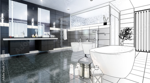Foto  Luxurious Bathroom (scetch)