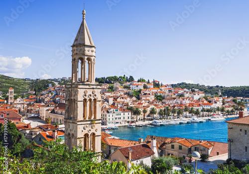View of the Hvar town, Hvar island, Dalmatia, Croatia