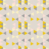 Geometric abstract pattern with triangles in muted  retro colors. - 179395489