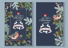 Bird Christmas Banners