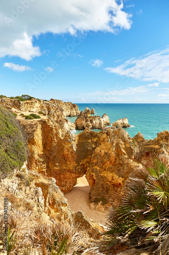 Tuinposter Athene Rocky coast of Atlantic Ocean, Portugal