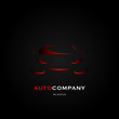 Auto car logo design vector illustration template