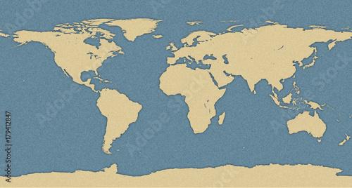 Foto op Aluminium World map