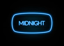 Midnight  - Colorful Neon Sign...