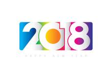 Vector 2018 Happy New Year Des...