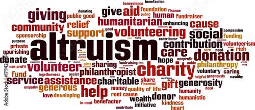 Photo Altruism word cloud