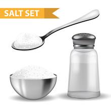 Realistic 3d Set With  Salt Sh...