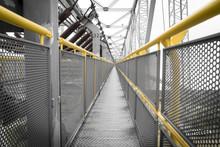 Yellow Railing Of A Transporta...