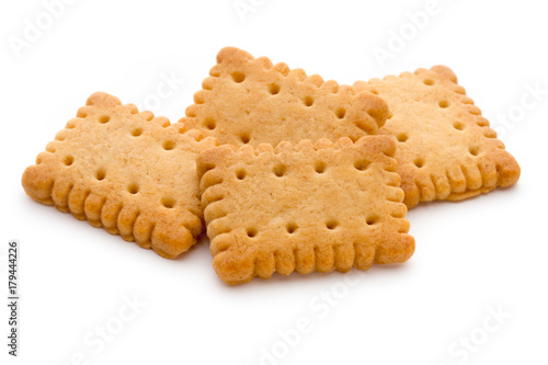 Fotografia Tasty cookies biscuits on the  isolated background.