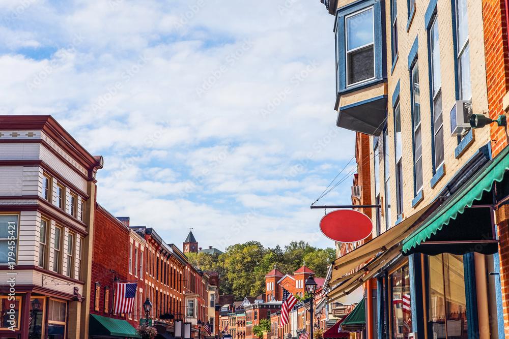 Fototapety, obrazy: Shops along main street, Galena, Illinois